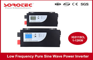 China RS232 Black Color Power Inverters / Off Grid Power Inverter Single Phase supplier