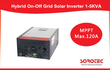 Hybrid 1kva 12v Solar Power Inverters , MPPT Controller solar off grid inverter