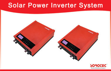 China Micro Solar Power Inverters Single Phase / Grid Tie Power Inverter 1~ 2KVA , Red Color factory