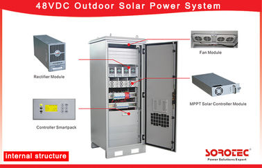 48VDC Outdoor Off Grid Solar Power Systems with MPPT Solar Charge Controller,Remote Monitoring