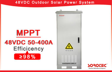 Telecom Off Grid Solar DC 48v Power Supply SHW48400 Outdoor Installation
