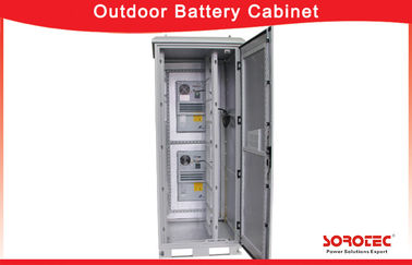 Outdoor IP55 Waterproof Battery Cabinet with Heat Exchanger for Telecom