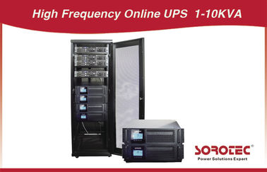 Rack Mount 1 - 10 KVA Pure High Frequency online UPS with voltage adjustment 220 230 240 V