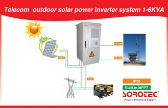 China Outdoor Telecom Off Grid Solar Power Systems 1KVA - 10KVA 50HZ / 60HZ supplier