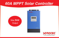 China 1600W with Communication Port 60A Max 3000W 12V 24V 48V MPPT Solar Charge Controller factory