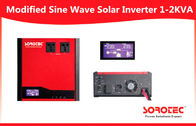 Red Color Grid Tie Power Inverter / 0.7 PF Solar Energy Inverter With PWM Charger