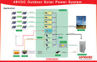 2000W / 3000W 48V Solar DC Power System 0 - 100 % RH Humiduty For Power Plant