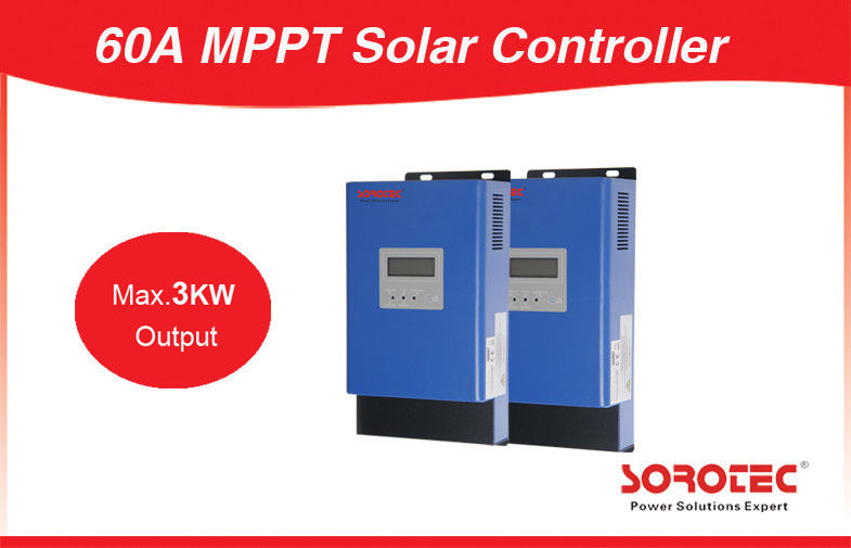 1600W 12V 24V 48V LCD Display 60A Max 3000W Output 24V MPPT Solar Charge Controller supplier