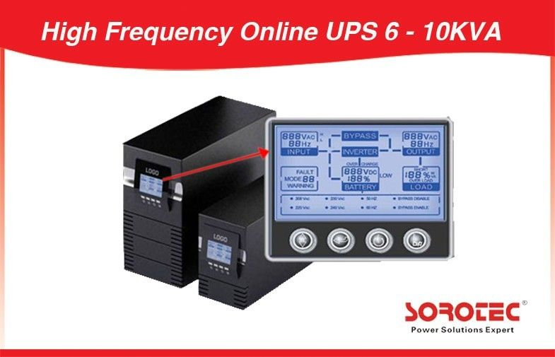 Industry Parallel 3 PCS Uninterrupted Power Supply High Frequency Online UPS 6KVA 4.2KW supplier