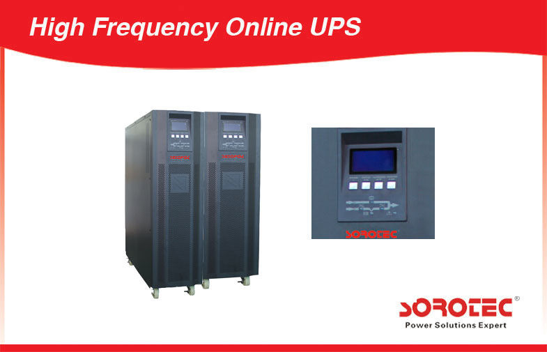 Large Capacity High Frequency Online UPS Power Supply with 12V 9ah Battery , Three Phase supplier
