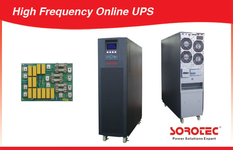 China 10-30KVA PF 0.9 High Frequency Online UPS , Personal Computers Pure Sine Wave UPS factory