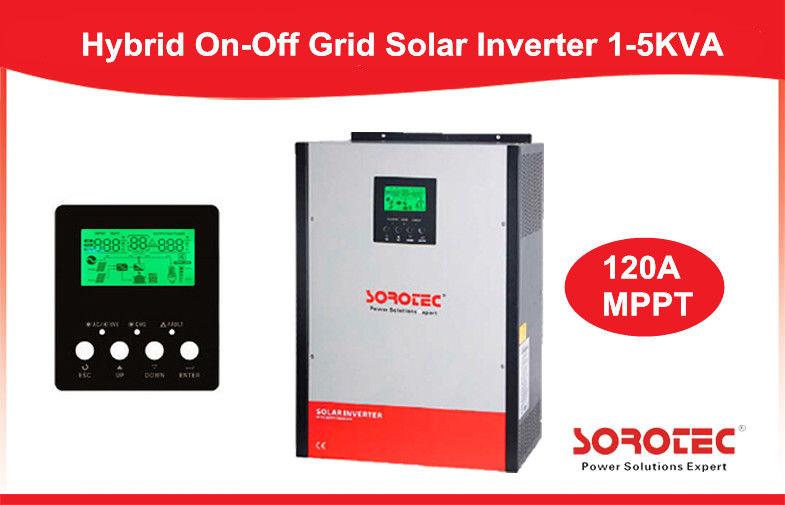 China Pure Sine Wave On / Off Grid Solar Power Inverters 1KW - 5KW with LCD Display factory