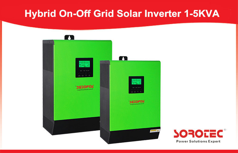 China High Frequency Solar Power Inverters , 3kva On Off Grid hybrid solar inverter factory