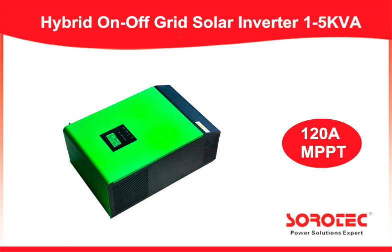 China 1~5KVA Hybrid Solar Inverter / Off On Grid Inverter With MPPT , 30kw Max Power factory