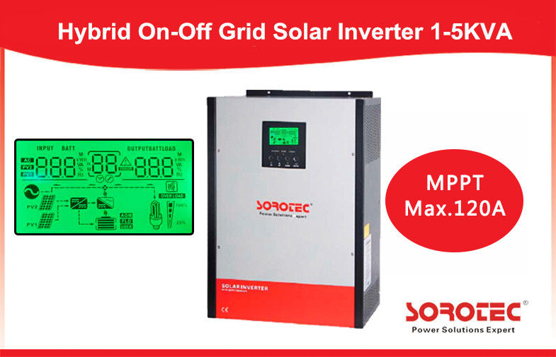 Efficiency 3kva 4000w Hybrid Solar Power Inverter with 80A MPPT Controller supplier