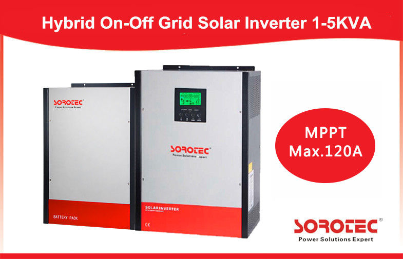 On / off Grid Hybrid Solar Inverter , 2kva MPPT most efficient power inverter 24v supplier