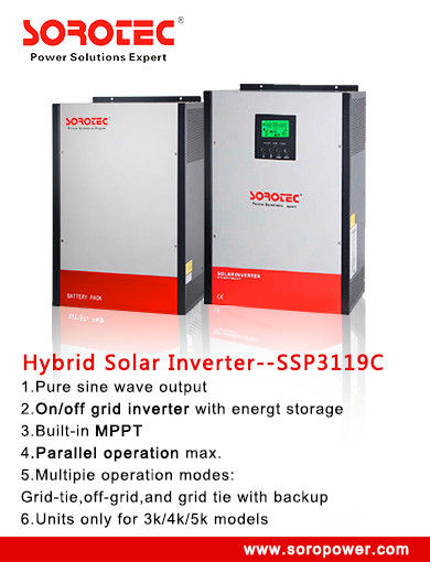 China Pure Sine Wave 24V / 48VDC 	Solar Power Inverters for Home / Office , 12V MPPT Controller factory