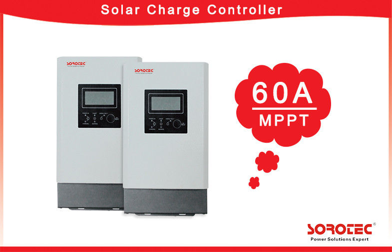 China Auto-Detection MPPT Solar Charge Controller 12VDC/24VDC/48VDC  60A Charge Current factory