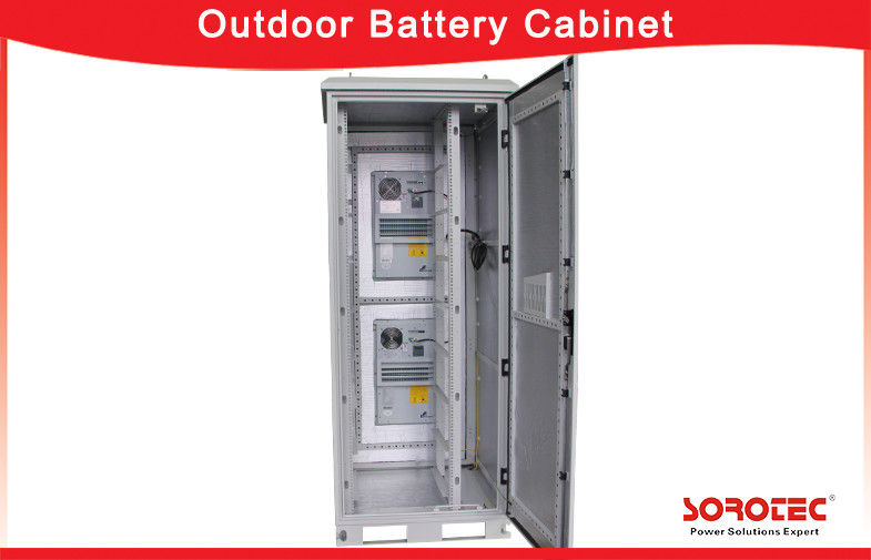 Outdoor IP55 Waterproof Battery Cabinet with Heat Exchanger for Telecom supplier