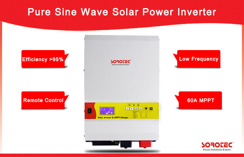 High Quality Output Power Factor 0.9-1.0 6kW 48V Solar Inverters with LCD Display supplier