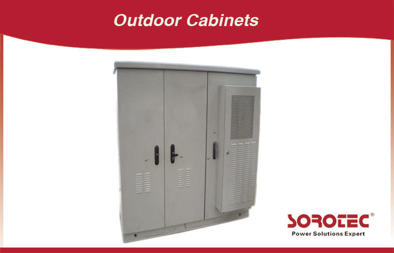 Stainless Steel Outdoor Battery Cabinet For Power Supply , Telecom Outdoor Cabinet supplier