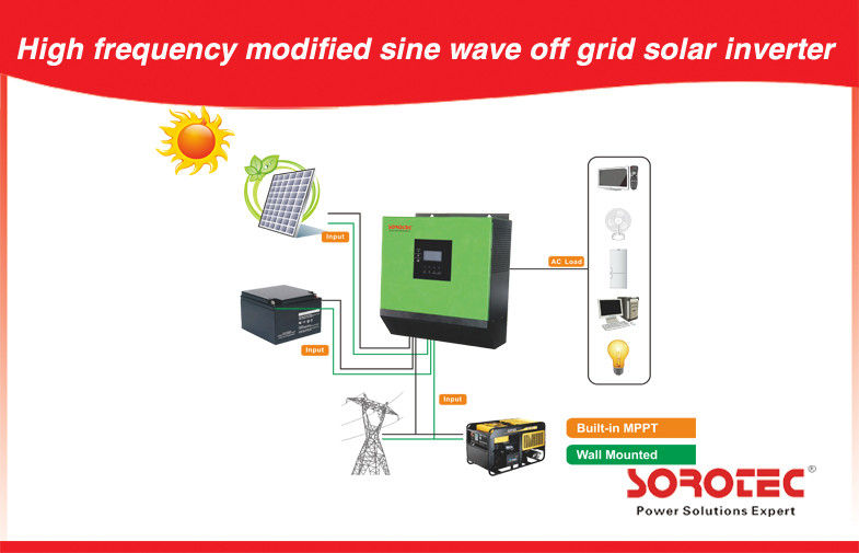 China High Frequency Off Grid Solar Power Systems Modified sine wave for home factory