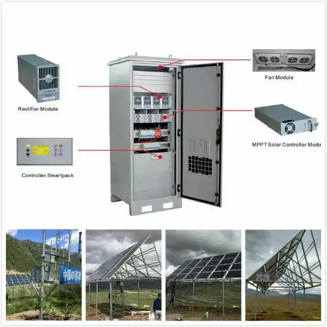Waterproof Solar 48V DC Power Supply System for Communication Base Station,With remote monitoring system operation