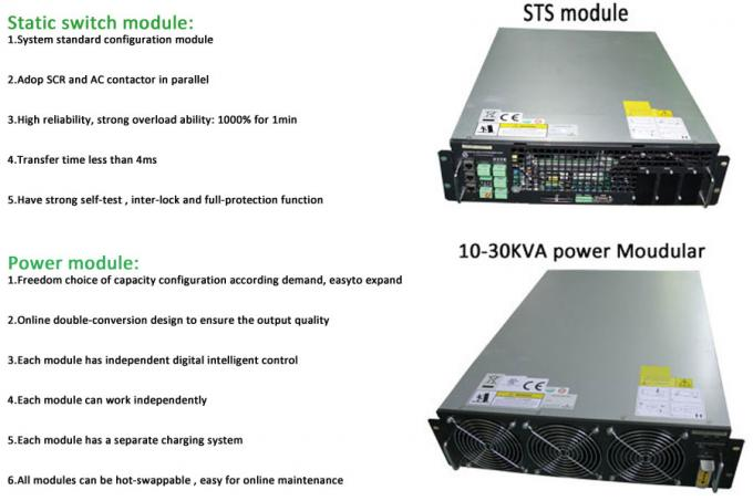 380VAC 30KVA High Frequency Online ups industrial , uniterruptible power supply Three Phase