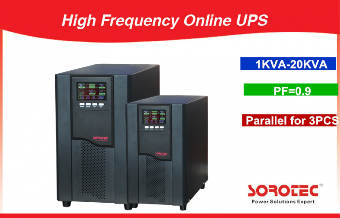 3 / 1 Phase 380VAC / 220VAC High Frequency Online UPS with 0.9 Power Factor , 10-20KVA 0