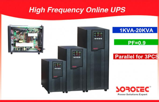 PF 0.9 1-20KVA High Frequency Online UPS , black uninterruptible power supplies