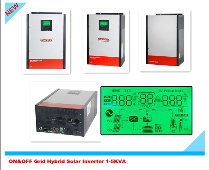 Pure Sine Wave On / Off Grid Solar Power Inverters 1KW - 5KW with LCD Display