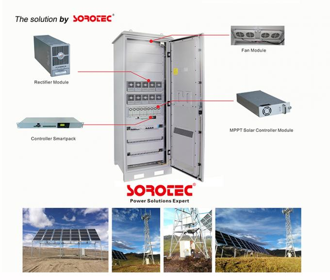 3000W 50A Outdoor Hybrid Off Grid Solar DC Power System for Solar Panel,Remote Monitoring System Interface