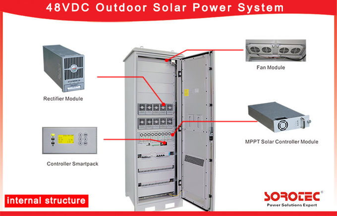 48VDC Solar DC Power System Built-in  MPPT Solar Charge Controller with control monitoring